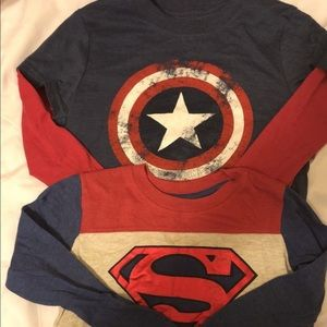 Other - Superhero long sleeve shirts 5T 4- 6Y